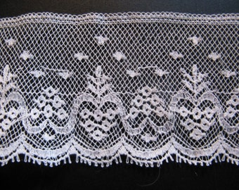 Beautiful antique French silk lace high 4 cm ... CA. 1930!