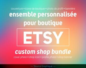 All custom shop Etsy - Etsy coverage - banner Etsy - Etsy - Etsy Shop icon profile Photo