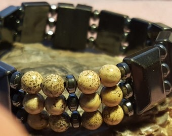 Energy Bracelet accented with Jasper Beads