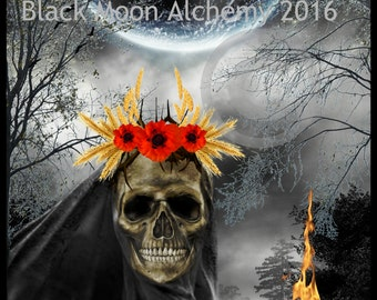 THE WITCH GODDESS Digital Collage Arte Print