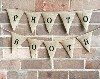 Hessian 'Photo Booth' Bunting