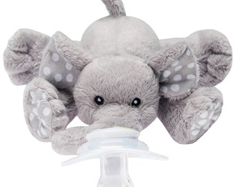 Nookums Paci-Plushies Elephant - Universal Pacifier Holder
