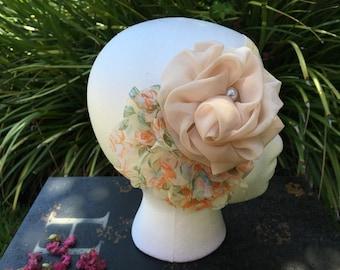 Beige Headband, baby headband, girl headband, flower headband