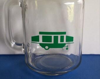 Mason Style Jar Mug with Pop Up Camper