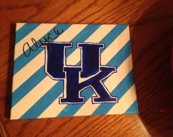 University of Kentucky college dorm room canvas