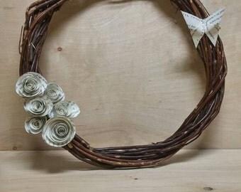 Harry Potter paper rose wreath