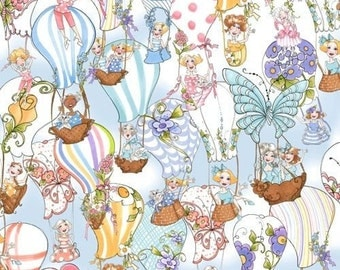 """Quilting Treasures: Loralie Up and Away - MULTI-FESTIVAL  100% cotton fabric by the yard 36""""x44"""" (QT109)"""
