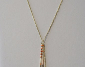 Necklace with 3 Layers of Beads