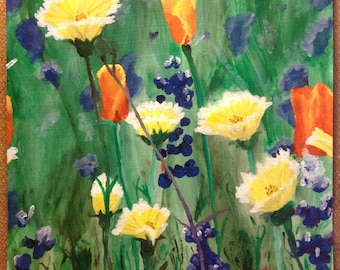"""11""""x14"""" Acrylic Painting """"Wildflowers"""""""
