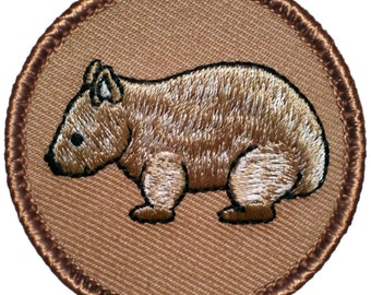 Wombat Patch (404) 2 Inch Diameter Embroidered Patch