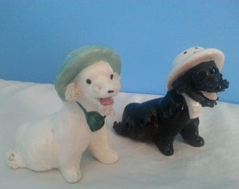 Vintage Salt & Pepper Poodles
