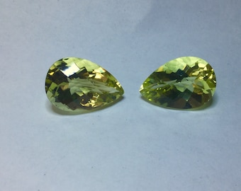 Lemon Citrine, beautiful matched pair