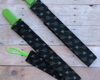 Green Arrow Pacifier Clip/Leash