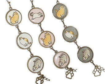 Cat bracelet - Available in 3 colors