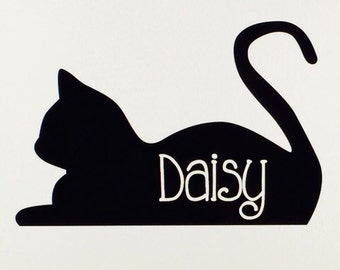 Personalized Cat Name Vinyl Decal