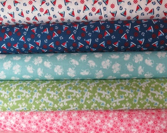 5 fat Quarters from Toy Box from Riley Blake Fabrics