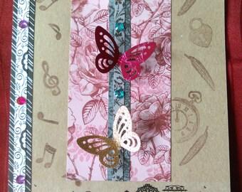 Big Handmade Greeting Card Vintage Design