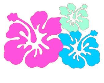 Hibiscus Flowers Vinyl Decal