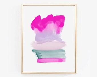 WATERCOLOR PRINTABLE #1  | Watercolor Print | Watercolor Art | Pink Watercolor | Pink Art | Abstract Art | Watercolor Art Print