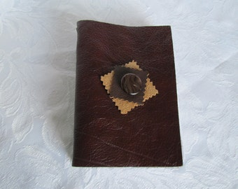 Hand bound A6 real leather book