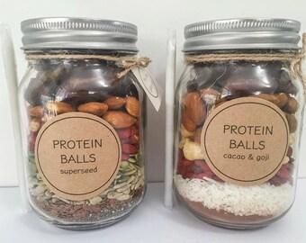 DIY Protein Ball - 500ml jar Vegan Raw