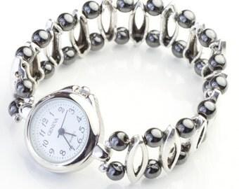 magnetic hematite watch C042