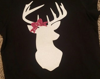 Girl's Deer Shirt with Bow
