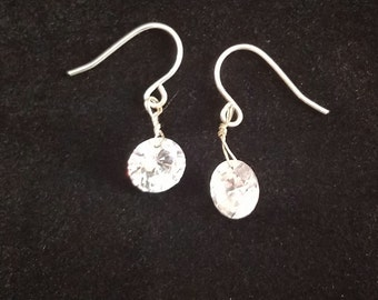 Crystal Ball Dangling Earrings - 1/4 inch crystals