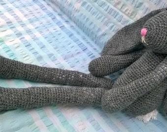 Handmade soft toy : crochet bunny