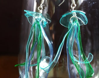 Sprite and Water Bottle Jellyfish Earrings