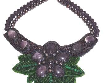 Purple flower - Necklace