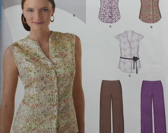 New Look 6967 Blouse and Trousers Sewing Pattern 8-18