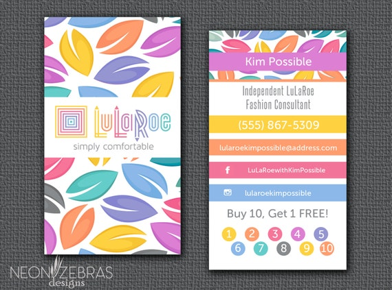 Custom lularoe business cards digital file by for Lularoe name cards