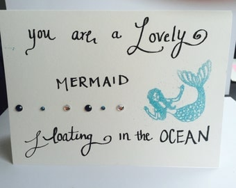 Homemade mermaid card