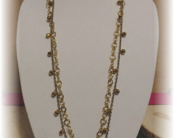 Long Golden Chain Necklace