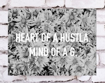 Ankit Heart Of A Hustla Wall Canvas