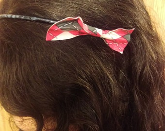 Plaid Duct Tape Bow Headband
