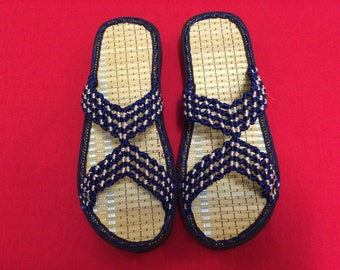 Sandals, Mens Sandals, String Sandals, Blue Sandals, Size 9.5 Sandals