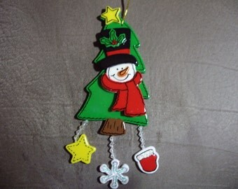 3D Handpainted Snowman Ornament