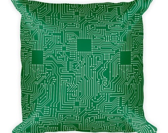 Circuitry Throw Pillow