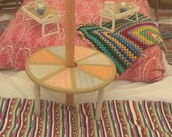 Round Bell Tent Table - Glamping, camping festivals