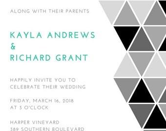 Custom Wedding Invitation- Digital File Printable