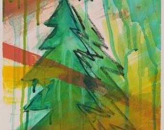HiLight Tree Original Acrylic Painting on Paper