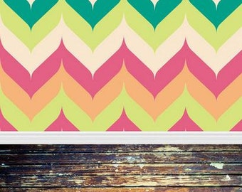 PolyPro Vinyl Photography Backdrop #1972 Colorful Horizontal & Aged Wood Floor--Available in many sizes!
