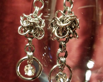Chainmaille Chime Dangle Earrings