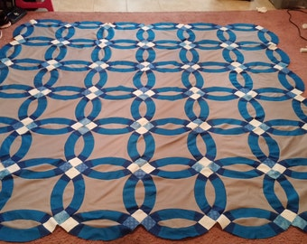 Items Similar To Easy Double Wedding Ring Quilt Piecing