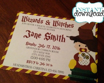 Harry Potter Baby Shower - Digital Download