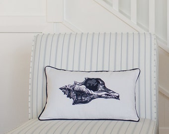 Shell Cushion Cover - Ink Navy
