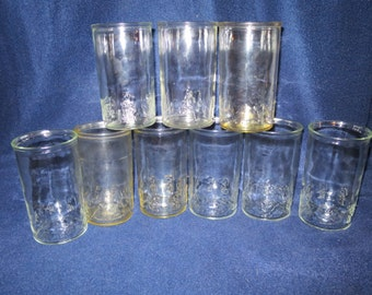 Vintage Smuckers Jelly Jar Glasses Charlie Brown Peanuts Snoopy (9)