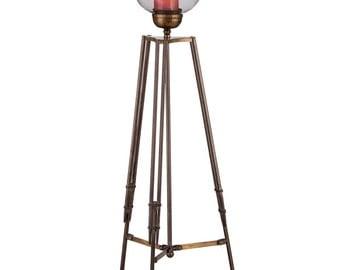 Tripod Corner Candle Lamp Wrought Iron